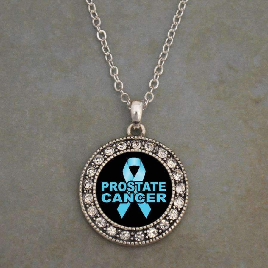 Prostate Cancer Awareness Ribbon Necklace