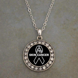 Skin Cancer Awareness Ribbon Necklace