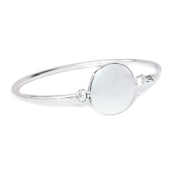 Engraved Round Shape Bangle Bracelet