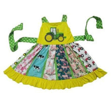 Load image into Gallery viewer, Farm Tractor Twirl Dress,Kids Clothes
