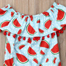 Load image into Gallery viewer, Light Blue Watermelon Baby Romper,Kids Clothes