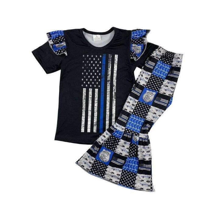 Police Theme Pants Set,Kids Clothes