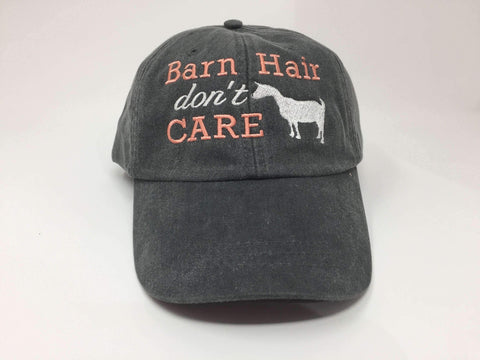 Barn Hair Don't Care with Goat Baseball Cap
