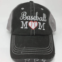 Load image into Gallery viewer, Baseball Mom with Heart Vintage Trucker Cap