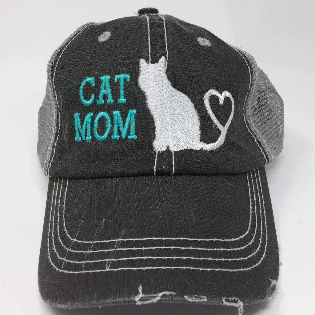 Cat Mom Vintage Style Trucker Cap
