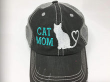 Load image into Gallery viewer, Cat Mom Vintage Style Trucker Cap