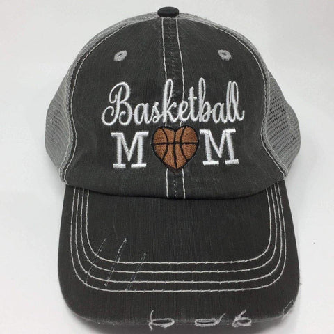 Basketball Mom with Heart Vintage Trucker Cap