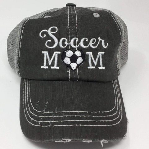 Soccer Mom with Heart Vintage Trucker Cap