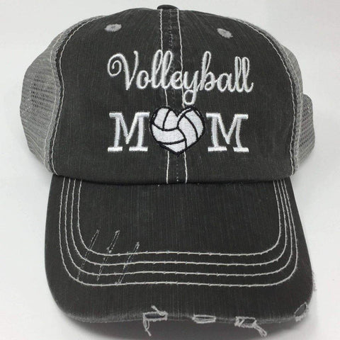 Volleyball Mom with Heart Vintage Trucker Cap