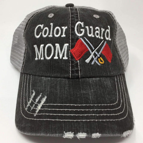 Color Guard Mom Embroidered Trucker Cap