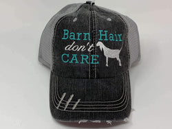 Barn Hair Don't Care with Nubian Goat Trucker Cap