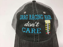 Load image into Gallery viewer, Drag Racing Hair Don't Care Trucker Cap