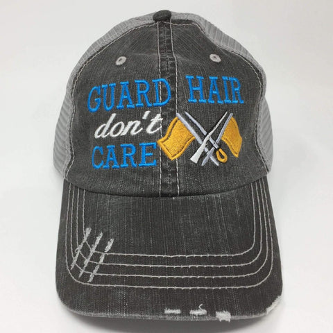 Guard Hair Don't Care Embroidered Trucker Cap