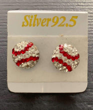 Load image into Gallery viewer, Baseball Sterling Silver Post Earrings,earrings