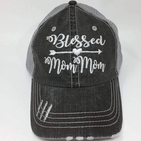 Blessed MomMom Vintage Trucker Cap