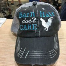 Load image into Gallery viewer, Barn Hair Don't Care with Chicken Distressed Trucker Cap