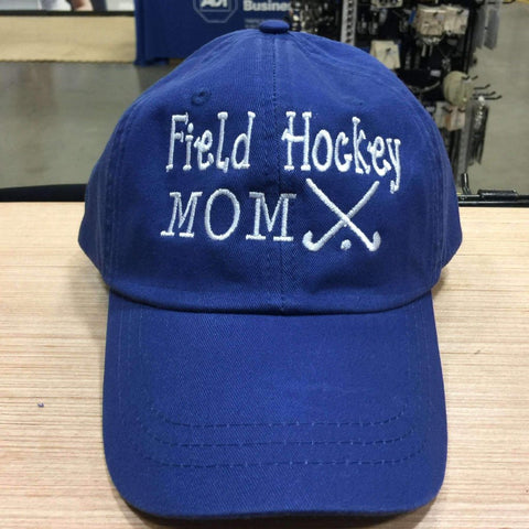 Field Hockey Mom Embroidered Baseball Cap