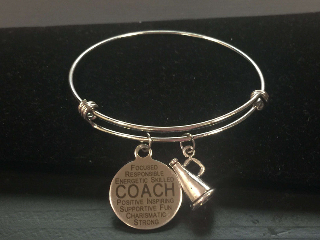 Cheerleader Coach Adjustable Bangle Bracelet,Bracelets