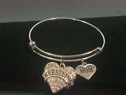 Wrestling Mom Adjustable Bangle Bracelet