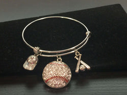 Baseball Player Adjustable Bangle Bracelet