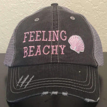 Load image into Gallery viewer, Feeling Beachy Distressed Trucker Cap,Caps