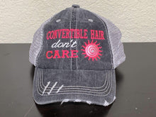 Load image into Gallery viewer, Convertible Hair don't Care Trucker Cap,Caps