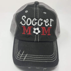 Soccer Mom Distressed Trucker Cap