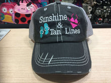 Load image into Gallery viewer, Sunshine & Tan Lines Distressed Trucker Cap
