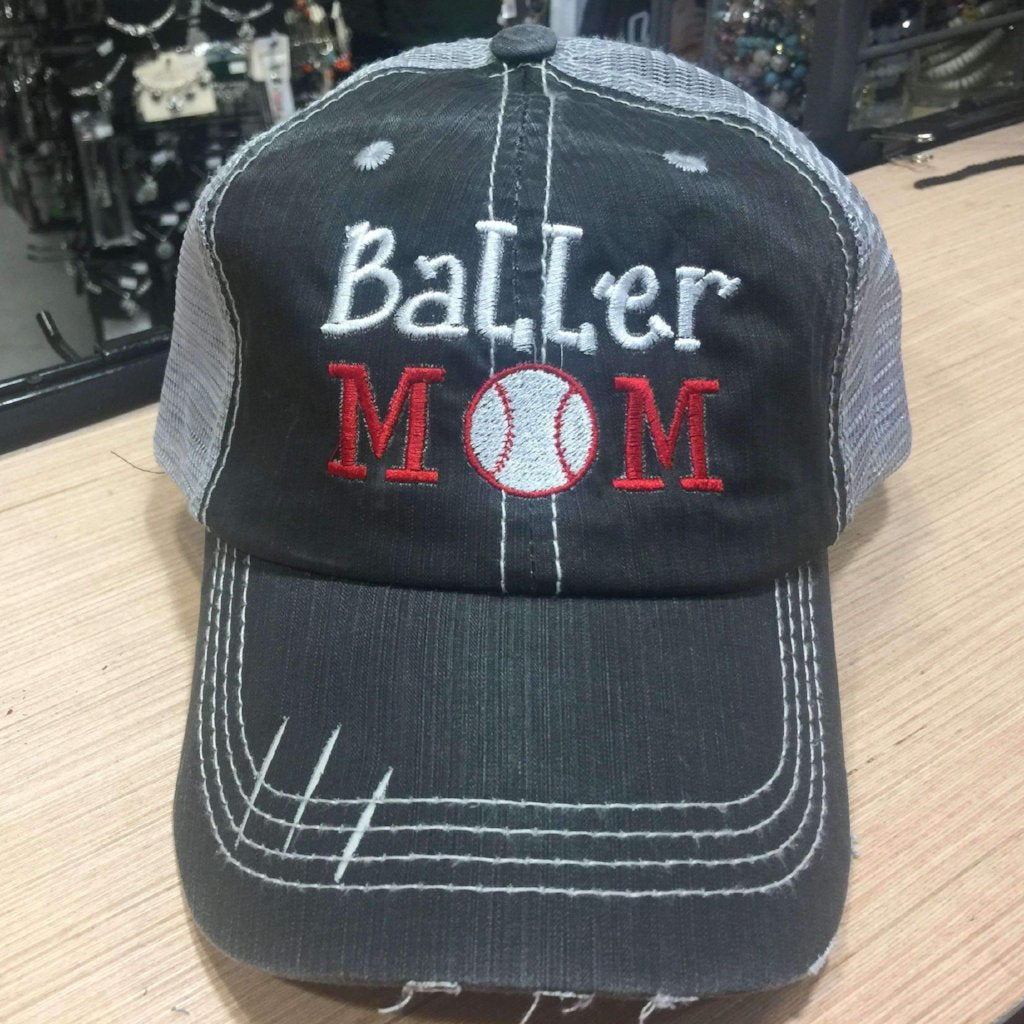 Baller Mom Baseball Mom Trucker Cap