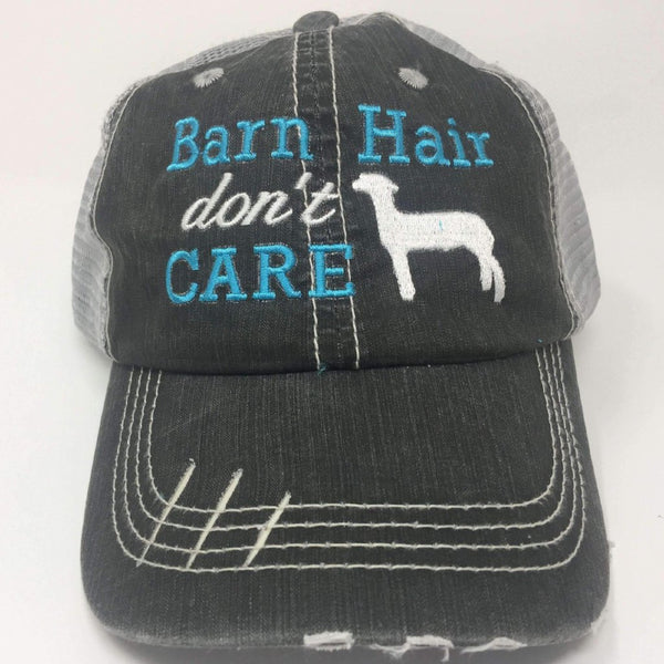 Barn Hair Don't Care with Show Sheep Trucker Cap