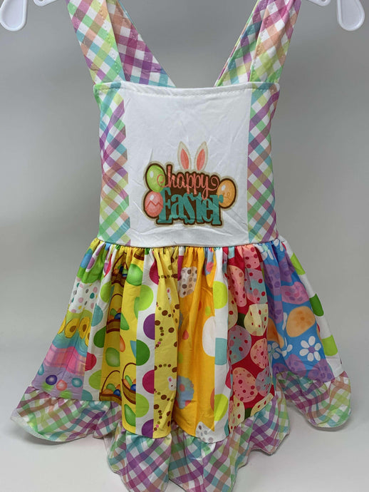 Happy Easter Twirl Dress,Kids Clothes