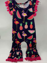 Load image into Gallery viewer, Summertime Fun Flamingo Baby Romper,Kids Clothes