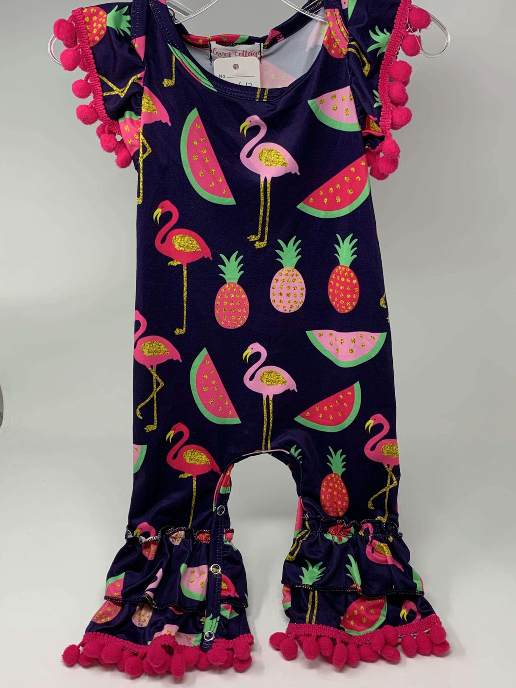 Summertime Fun Flamingo Baby Romper,Kids Clothes