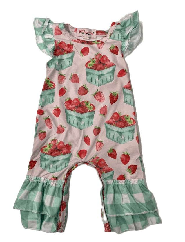 Strawberry Basket Romper