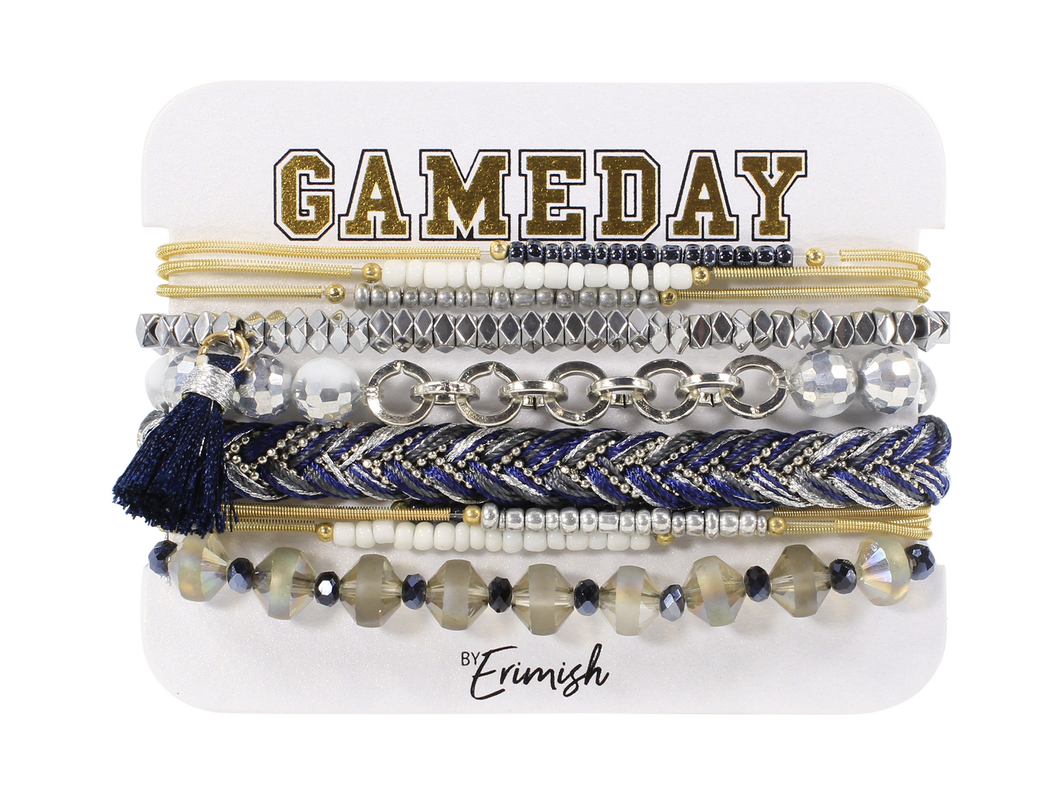Erimish Gameday Navy Blue and White Stack