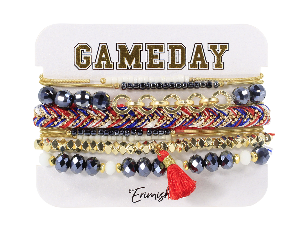 Erimish Gameday Navy and Red Stack