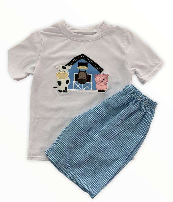 Farm Short Set for Boys,Kids Clothes