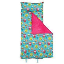 Load image into Gallery viewer, Owl Print School Nap Mat Sleeping Bag