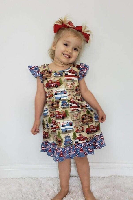 All American Weekend Patriotic Dress,Kids Clothes