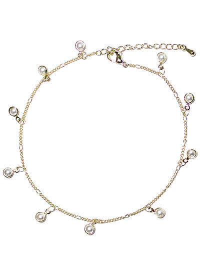 Anklet with Pearl Dangles
