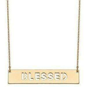 Blessed Cut Out Necklace Rose Gold,Live Show