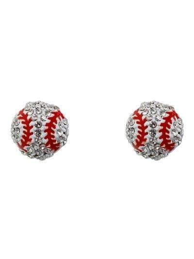 Baseball Post Style Earrings,Live Show