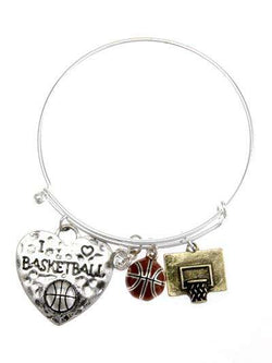 Basketball Multi Charm Bracelet