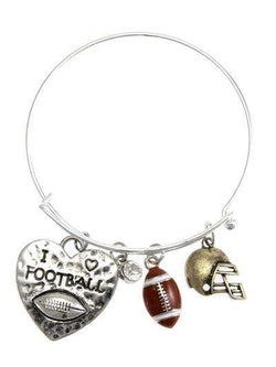I Love Football Multi Charm Bracelet