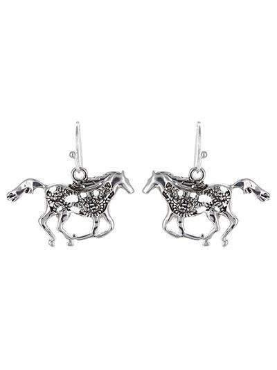 Horse Silver Earrings,Live Show