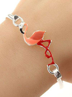 Pink Flamingo Bangle Style Bracelet