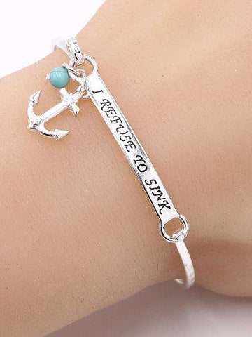 I Refuse To Sink Bar Bracelet