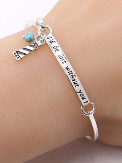 I'd Be Lost Without You Lighthouse Bangle Bracelet
