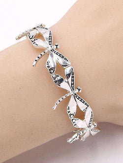 Dragonfly Silver Stretch Bracelet