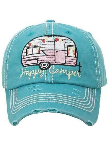 Happy Camper Vintage Trucker Cap